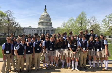 St. Mark's Episcopal School eighth-grade students