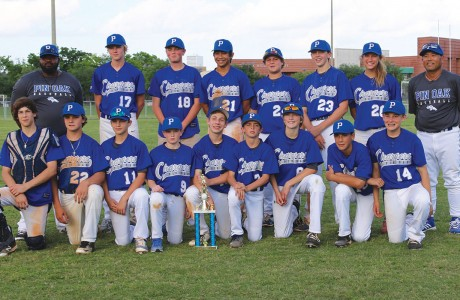 The Pin Oak Middle School baseball team