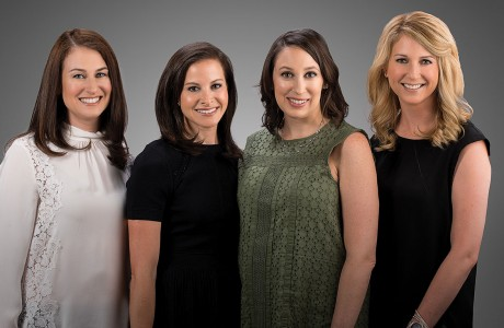 Elizabeth Rubinsky, Ashley Roseman, Marci Gilbert and Lindsay Schmulen