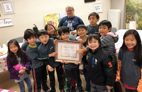Frostwood Elementary School Korean Buddy 2028 group