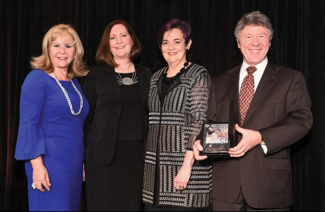 Cyndy Garza Roberts, Diane Englet, Gwen Emmett and Harris County Judge Ed Emmett