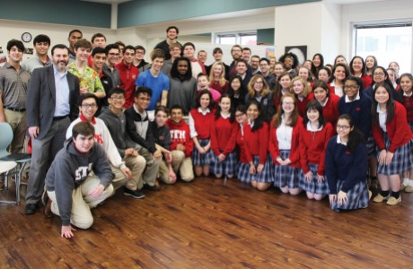 Incarnate Word Academy choir and the St. Thomas High School choir