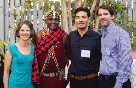 Elizabeth Cosgrove, Gilbert Sabinga, Jack Yuen and Cameron Smith