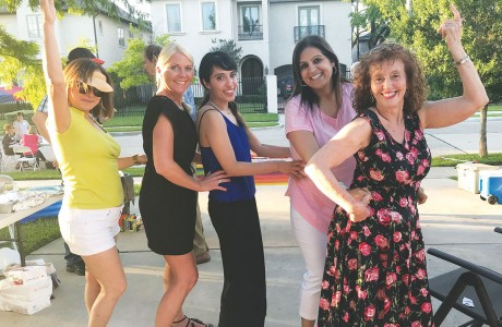 Patricia Rosario, June Loveland, Mariam Lakhani, Sabrina Khan and Lucette Reiger