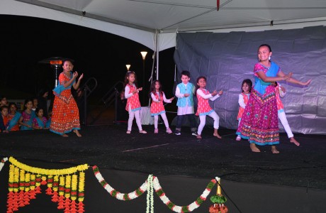 Children performing Bollywood dance