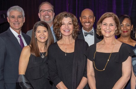 Greg Frazier, David Oelfke, Paula Walter, Amy Grant, Jeannie Frazier, Cheri Fossler and Andy Fosser; (back row, from left) Bart Millard, Dr. Bill Blocker and Zelder Blocker
