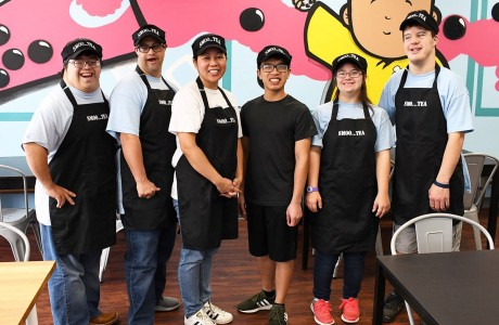 Down Syndrome Academy students at SmooTea