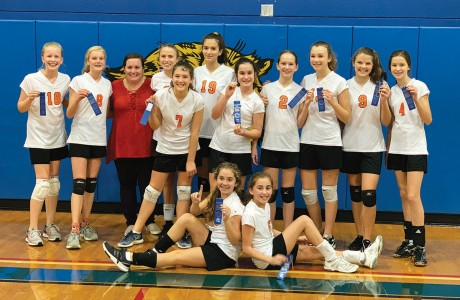 Memorial Middle School seventh-grade volleyball A team