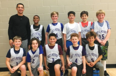West University Methodist fifth-grade boys basketball team