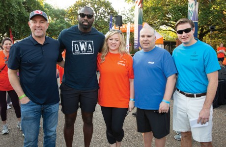 Reid Ryan, Whitney Mercilus, Cathy and Amerino Gatti and Chase Zalman