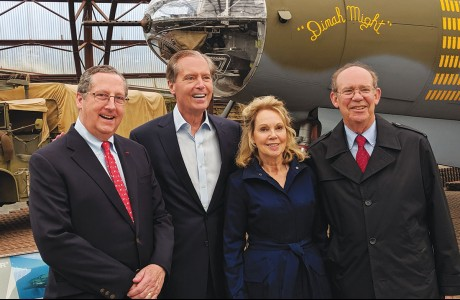 Gene Dewhurst, David Dewhurst, Julie Nixon Eisenhower and David Eisenhower