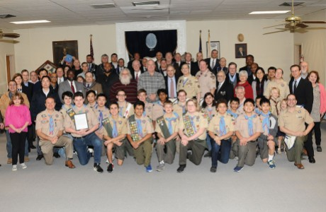 Temple Lodge #4 AF & AM and Bellaire Boy Scout Troop 222