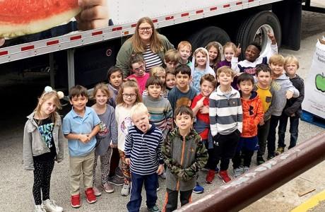 Emily Ross' kindergarten class