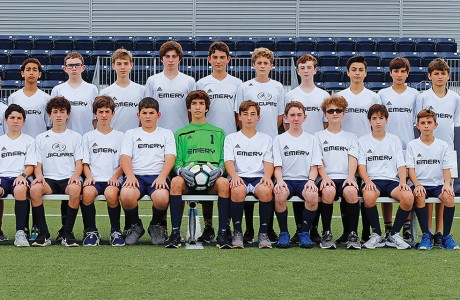 Emery/Weiner School's middle school boys soccer team