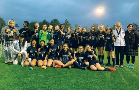 Duchesne Academy eighth-grade girls' soccer team