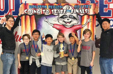Odyssey of the Mind team at West University Elementary School