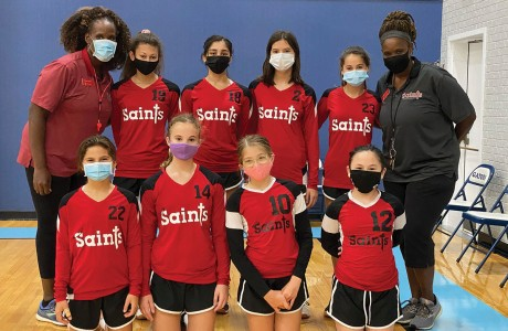 Holy Spirit Episcopal School's volleyball team