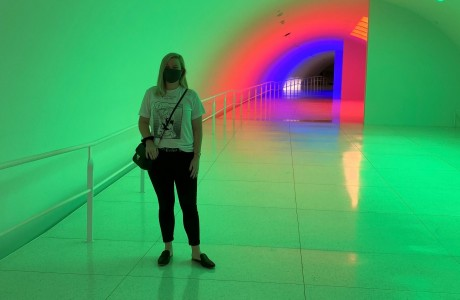 Carlos Cruz-Diez's color tunnel