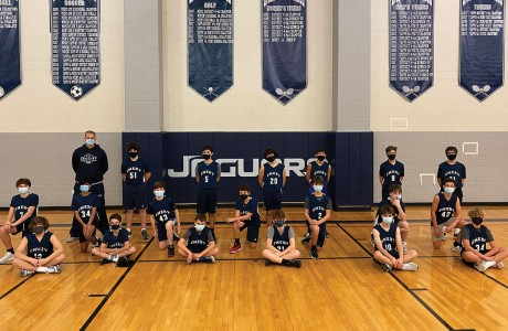 Emery/Weiner School seventh-grade boys basketball team
