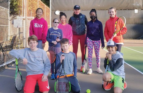 Tennis players at Memorial Forest Club