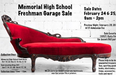 Memorial High School Freshman Garage Sale