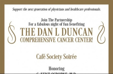 Partnership for Baylor College of Medicine's Cafe Society Soiree