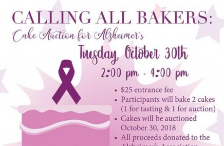 Cake Auction for Alzheimer's