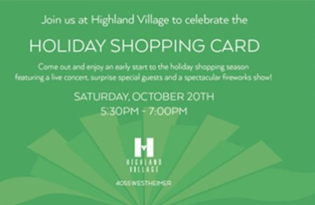Highland Village 3rd Annual Holiday Shopping Card Celebration & Lighting