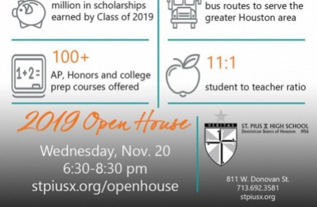 St. Pius X High School Open House