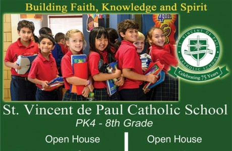 St. Vincent de Paul Catholic School Open House