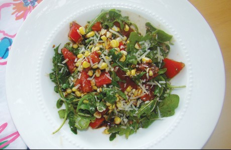 Arugula, Corn and Tomato Salad