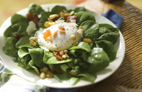 Poached Egg Spinach Salad