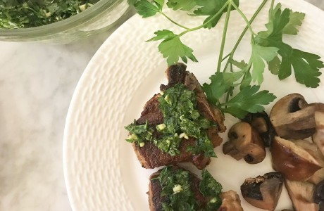 Lamb Chops with Minty Gremolata