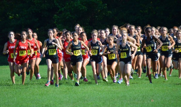 JV at the starting line