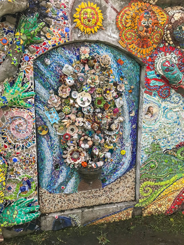 Flower and tree mosaic