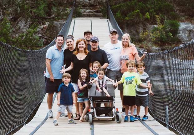 Caroline Fletcher with family