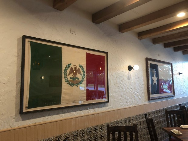 Mexican and Texan flag