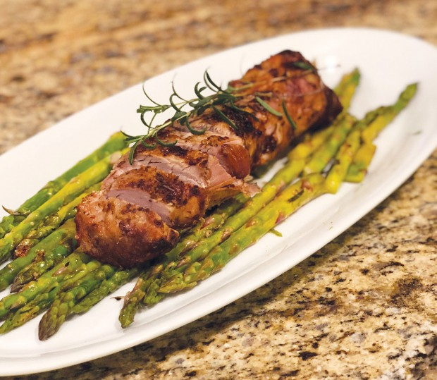 Roasted Rosemary Pork with Asparagus